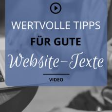 Tipps für gute Website-Texte
